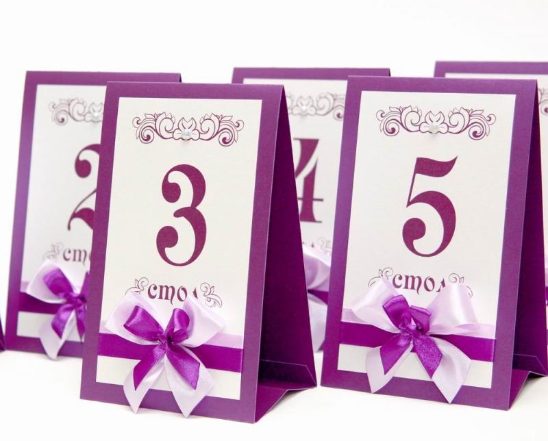 Как сделать номерки на столы на свадьбу своими руками